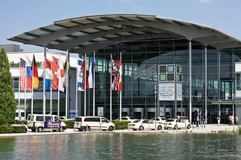 We provide an exhibitions & fairs service and this image shows an exhibition centre entrance.